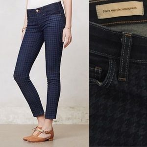 Anthropologie Pilcro Houndstooth Serif Skinny Jean